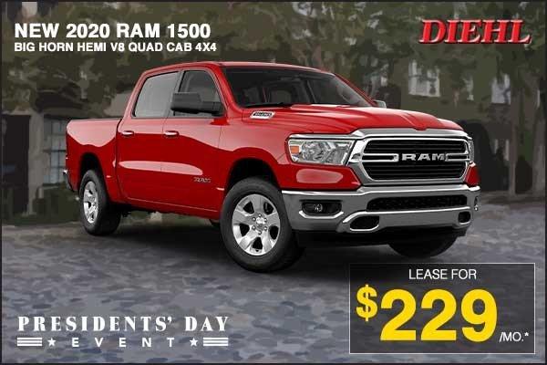 Special offer on 2020 Ram 1500 NEW 2020 RAM 1500 BIG HORN BIG HORN HEMI V8 QUAD C