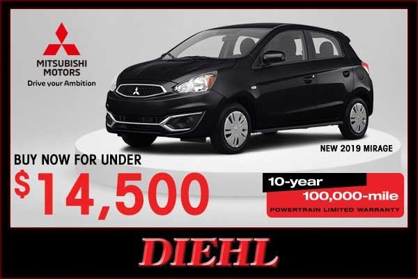Special offer on 2019 Mitsubishi Mirage NEW 2019 MITSUBISHI MIRAGE