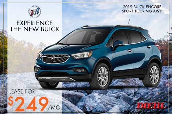 Special offer on 2019 Buick Encore NEW 2019 BUICK ENCORE SPORT TOURING AWD