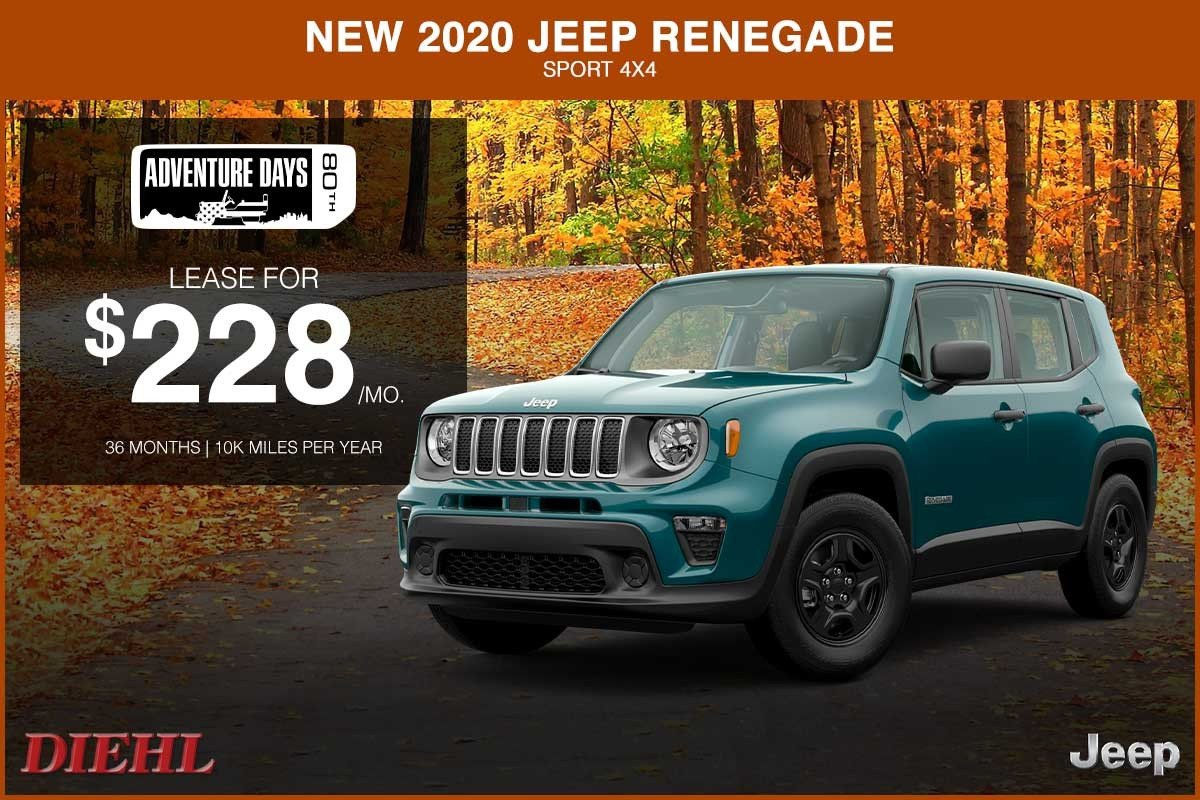 Special offer on 2020 Jeep Renegade NEW 2020 JEEP RENEGADE SPORT 4X4