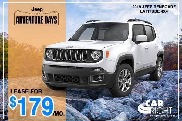 Special offer on 2019 Jeep Renegade NEW 2019 JEEP RENEGADE LATITUDE 4X4