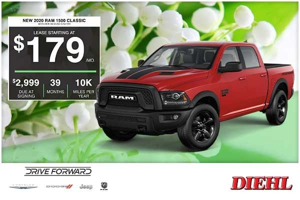 Special offer on 2020 Ram 1500 Classic NEW 2020 RAM 1500 CLASSIC WARLOCK V6 QUAD CAB 4X4