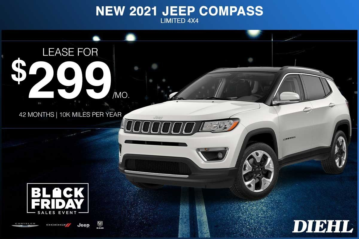Special offer on 2021 Jeep Compass NEW 2021 JEEP COMPASS LIMITED 4X4