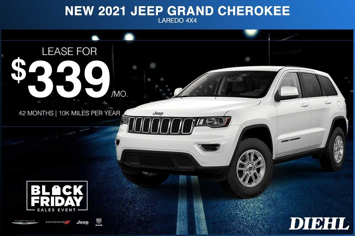 Special offer on 2021 Jeep Grand Cherokee NEW 2021 JEEP GRAND CHEROKEE LAREDO 4X4