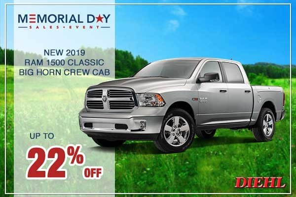 Special offer on 0   New 2019 RAM 1500 Classic Big Horn Crew Cab