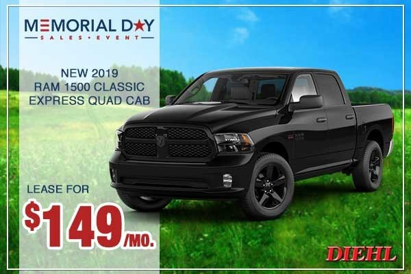 Special offer on 0   New 2019 RAM 1500 Classic Express Quad Cab