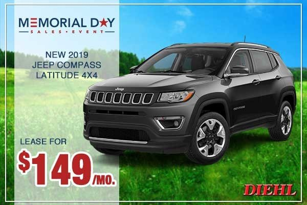 Special offer on 0   NEW 2019 JEEP COMPASS LATITUDE 4X4