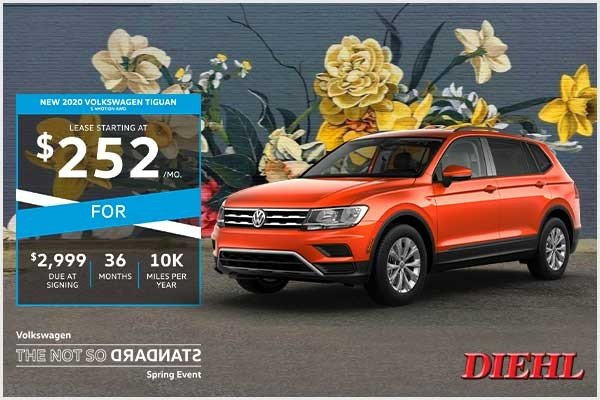 Special offer on 2020 Volkswagen Tiguan NEW 2020 VOLKSWAGEN TIGUAN S 4MOTION AWD