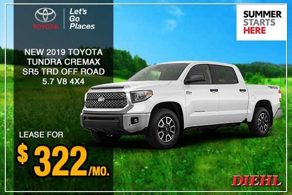 Special offer on 0   New 2019 Toyota Tundra SR5 4WD 4D CrewMax