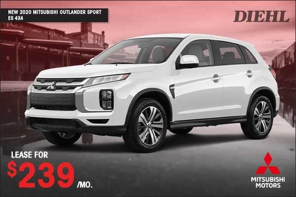 Special offer on 2020 Mitsubishi Outlander Sport NEW 2020 MITSUBISHI OUTLANDER SPORT ES 4X4