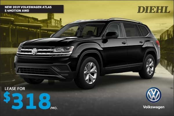 Special offer on 2019 Volkswagen Atlas NEW 2019 VOLKSWAGEN ATLAS S 4MOTION AWD