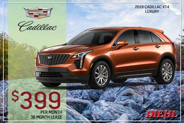 Special offer on 2019 Cadillac XT4 NEW 2019 CADILLAC XT4 LUXURY