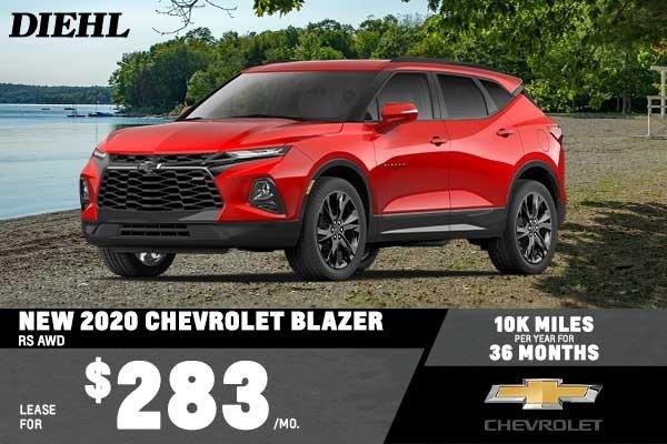 Special offer on 2020 Chevrolet Blazer NEW 2020 CHEVROLET BLAZER RS AWD