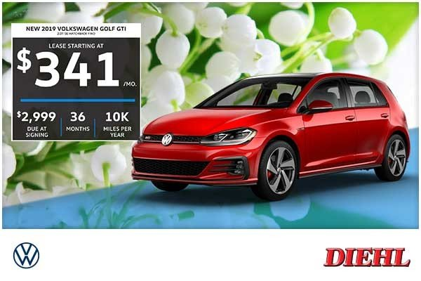Special offer on 2019 Volkswagen Golf GTI NEW 2019 VOLKSWAGEN GOLF GTI 2.0T SE HATCHBACK FWD