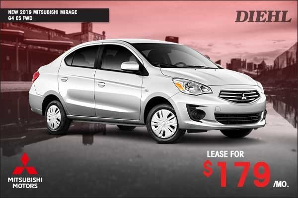 Special offer on 2019 Mitsubishi Mirage G4 NEW 2019 MITSUBISHI MIRAGE G4 ES FWD