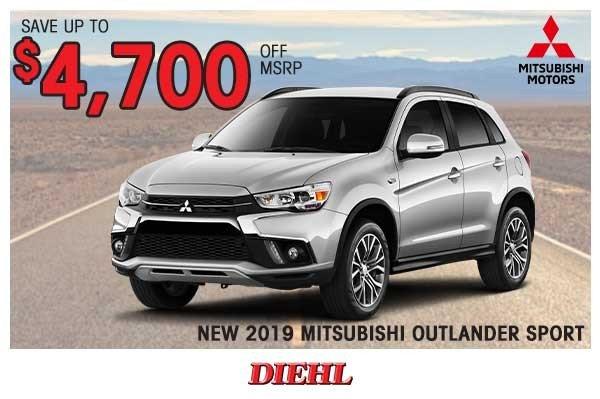 Special offer on 2019 Mitsubishi Outlander Sport NEW 2019 MITSUBISHI OUTLANDER SPORT