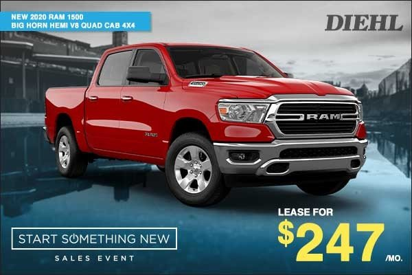 Special offer on 2020 Ram 1500 NEW 2020 RAM 1500 BIG HORN HEMI V8 QUAD CAB 4X4