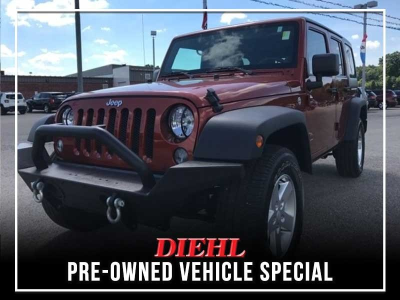 Special offer on 0   PRE-OWNED 2014 JEEP WRANGLER SPORT
