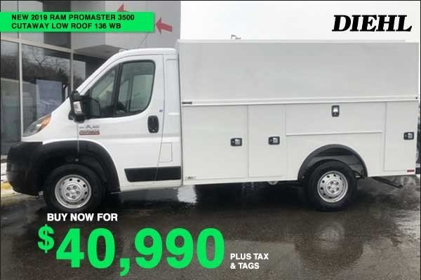 Special offer on 0   NEW 2019 RAM PROMASTER 3500 CUTAWAY
