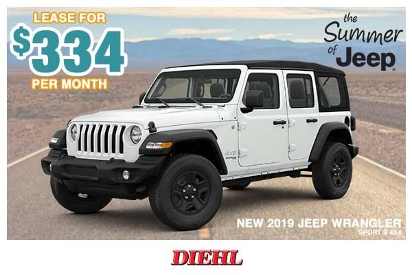 Special offer on 0   NEW 2019 JEEP WRANGLER SPORT S