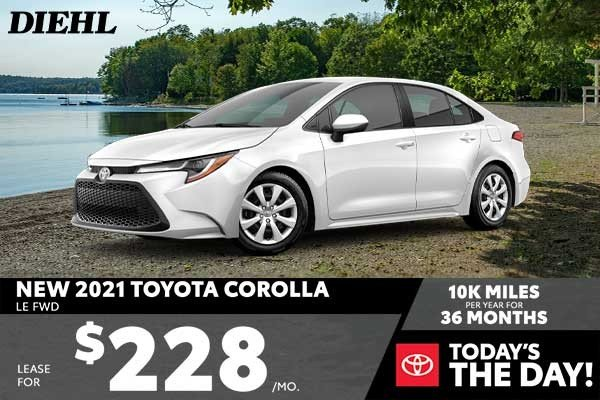 Special offer on 2021 Toyota Corolla NEW 2021 TOYOTA COROLLA LE FWD