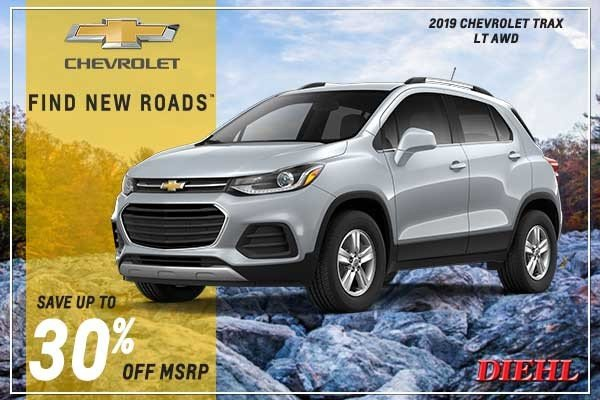 Special offer on 2019 Chevrolet Trax NEW 2019 CHEVROLET TRAX LT AWD