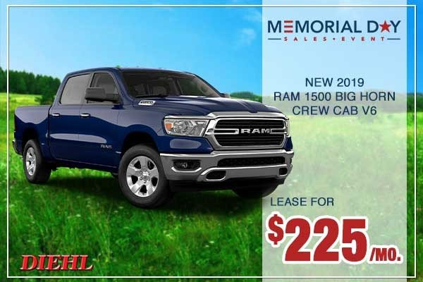 Special offer on 0   NEW 2019 RAM 1500 BIG HORN / LONE STAR CREW CAB 4X