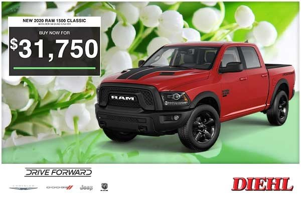 Special offer on 0   NEW 2020 RAM 1500 CLASSIC WARLOCK V6 QUAD CAB 4X4