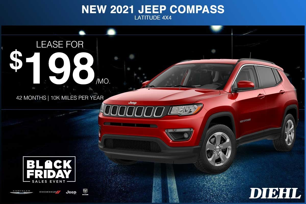 Special offer on 2021 Jeep Compass NEW 2021 JEEP COMPASS LATITUDE 4X4