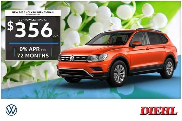 Special offer on 0   NEW 2020 VOLKSWAGEN TIGUAN 2.0T S 4MOTION AWD