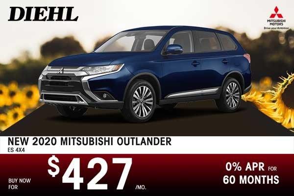 Special offer on 0 Mitsubishi  NEW 2020 MITSUBISHI OUTLANDER ES 4x4