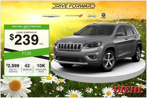 Special offer on 2020 Jeep Cherokee New 2020 Jeep Cherokee Limited 4x4