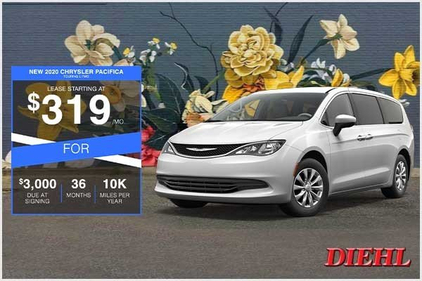 Special offer on 2020 Chrysler Pacifica NEW 2020 CHRYSLER PACIFICA TOURING L FWD