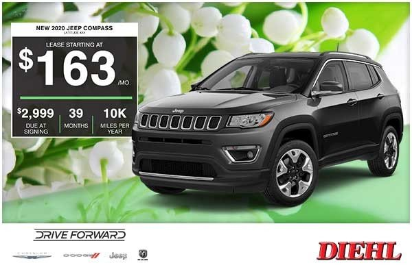 Special offer on 2020 Jeep Compass NEW 2020 JEEP COMPASS LATITUDE 4×4