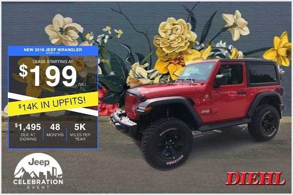 Special offer on 2019 Jeep Wrangler NEW CUSTOM 2019 JEEP WRANGLER SPORT S 2D 4X4