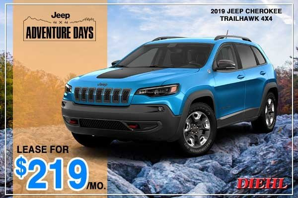 Special offer on 2019 Jeep Cherokee NEW 2019 JEEP CHEROKEE TRAILHAWK 4X4