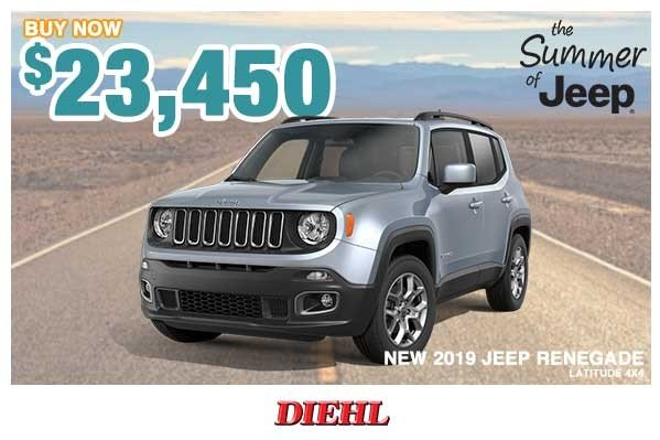 Special offer on 0   NEW 2019 JEEP RENEGADE LATITUDE