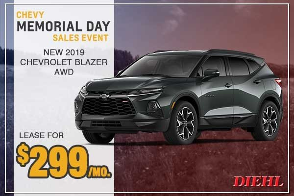 Special offer on 0   New 2019 Chevy Blazer AWD
