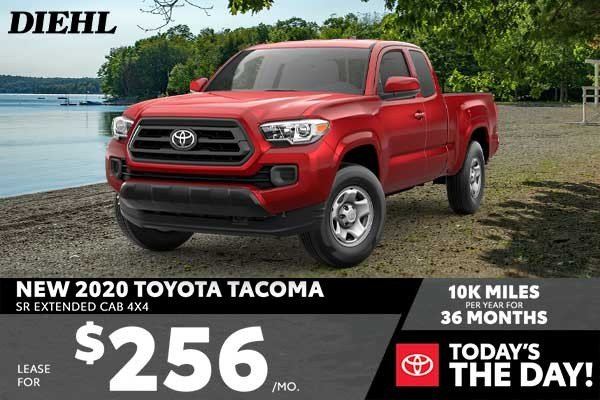 Special offer on 2020 Toyota Tacoma 4WD NEW 2020 TOYOTA TACOMA SR EXTENDED CAB 4X4
