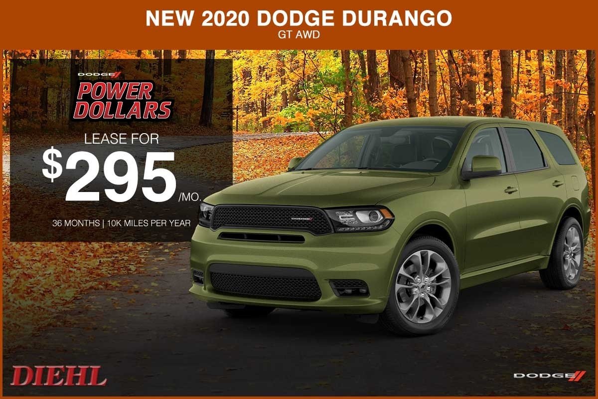Special offer on 2020 Dodge Durango NEW 2020 DODGE DURANGO GT AWD