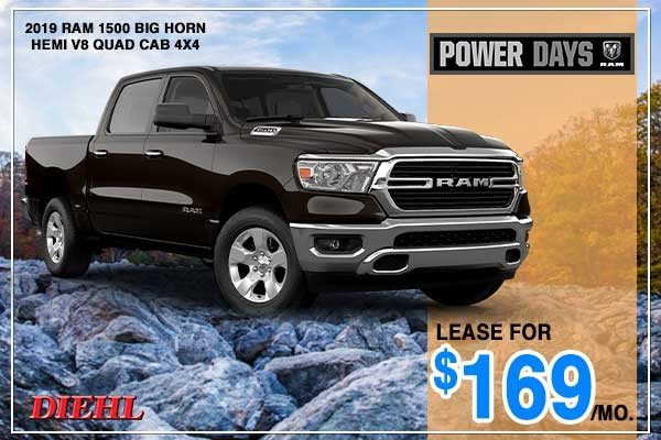 Special offer on 2019 Ram 1500 NEW 2019 RAM 1500 BIG HORN HEMI V8 QUAD CAB 4X4