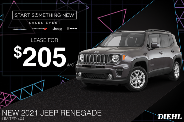 Special offer on 2021 Jeep Renegade 2021 RENEGADE