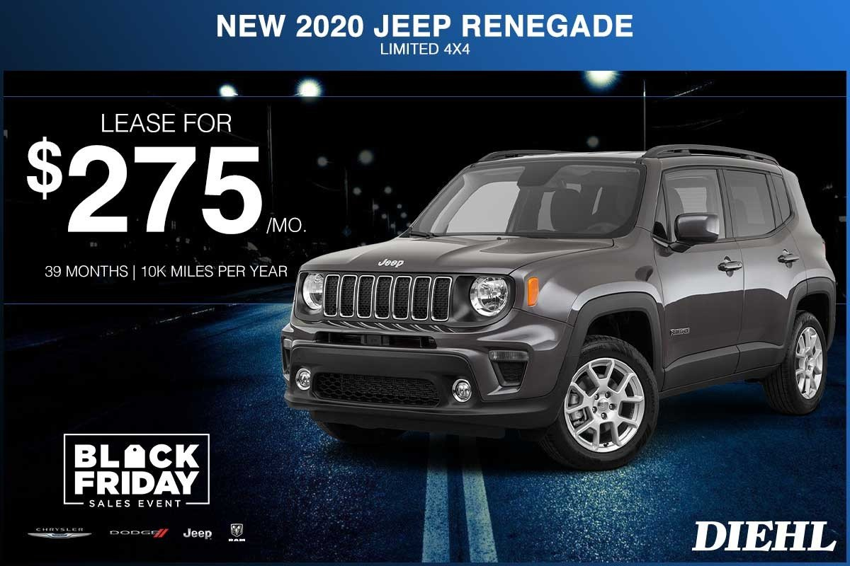 Special offer on 2020 Jeep Renegade NEW 2020 JEEP RENEGADE LIMITED 4X4