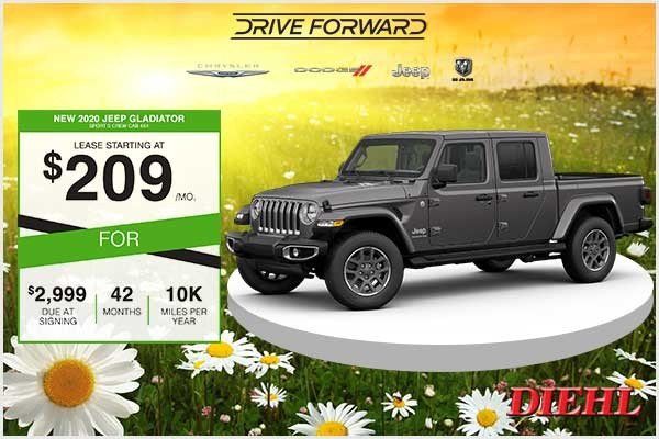 Special offer on 2020 Jeep Gladiator New 2020 Jeep Gladiator Sport S V6 Crew Cab 4x4