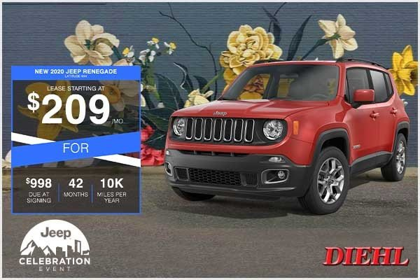 Special offer on 2020 Jeep Renegade NEW 2020 JEEP RENEGADE LATITUDE 4X4