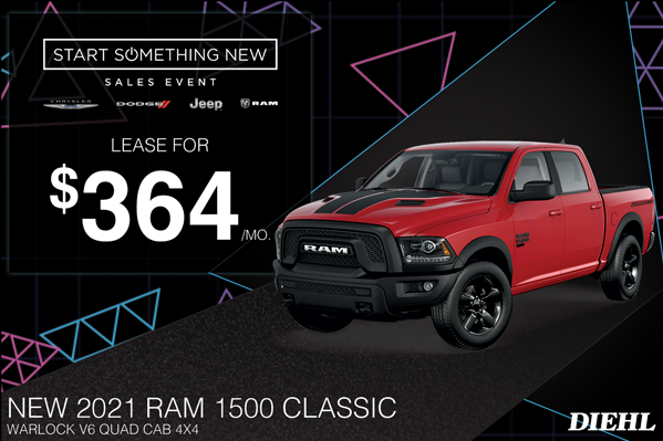 Special offer on 2021 Ram 1500 Classic 2021 RAM 1500 CLASSIC