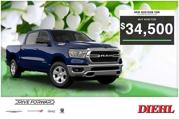 Special offer on 0   NEW 2020 RAM 1500 BIG HORN V6 CREW CAB 4×4
