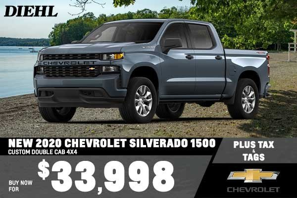 Special offer on 0   NEW 2020 CHEVROLET SILVERADO 1500 CUSTOM DOUBLE CA