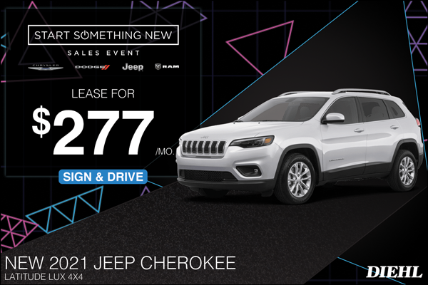 Special offer on 2021 Jeep Cherokee 2021 CHEROKEE