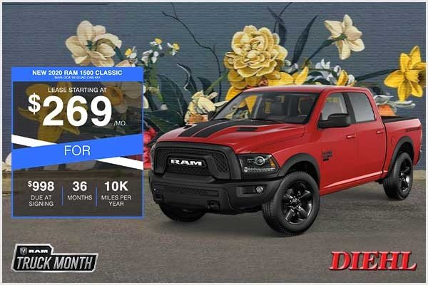Special offer on 2020 Ram 1500 Classic NEW 2020 RAM 1500 CLASSIC WARLOCK V6 QUAD CAB 4X4